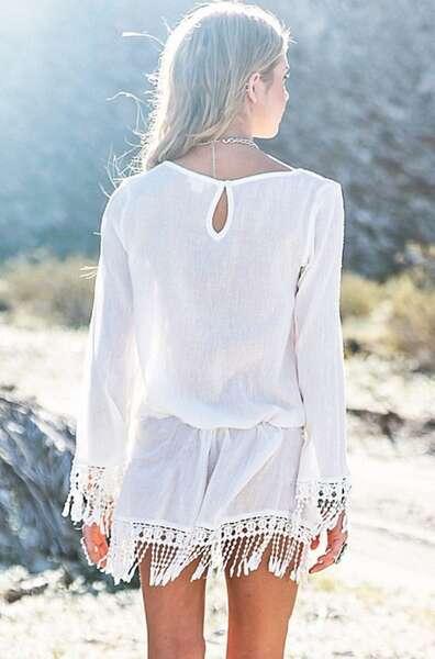 Angelsin - Beyaz Şık Pareo (1)