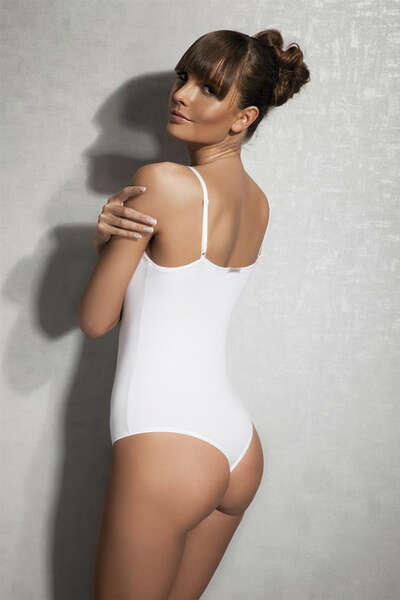 Doreanse - İnce Askılı Askılı String Body Suit (1)
