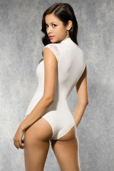 Doreanse - Dantelli Alttan Çıtçıtlı Avangard Body Suit (1)