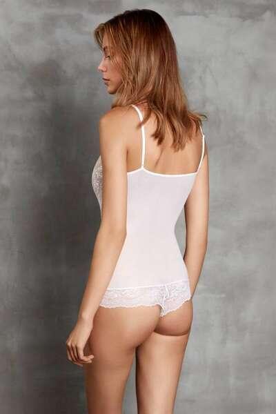Doreanse - Dantelli Alttan Çıtçıtlı Body Suit (1)