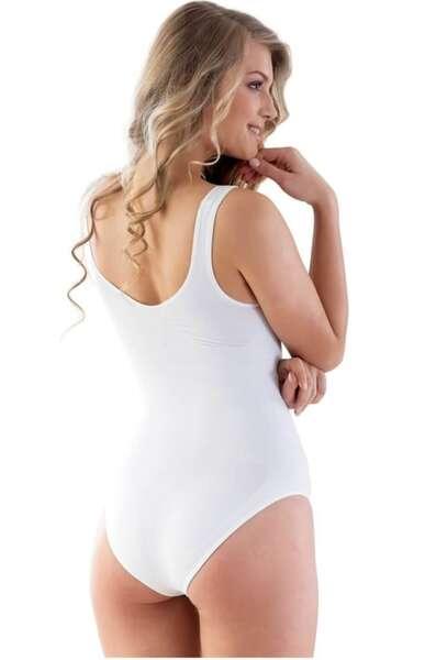 Emay - Dikişsiz İz Yapmayan Kalın Askılı Kadın Slip Body Korse (1)