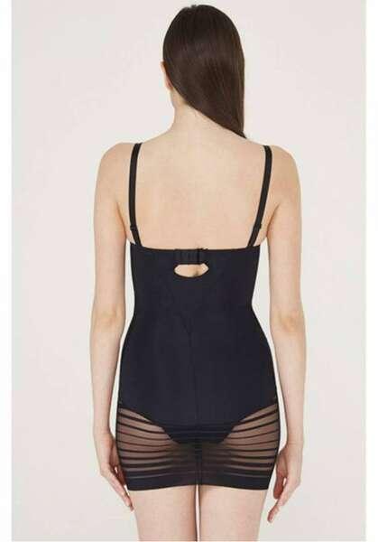 TEN - Siyah Elbise Korse / Tüm Gün Giyilebilir (1)