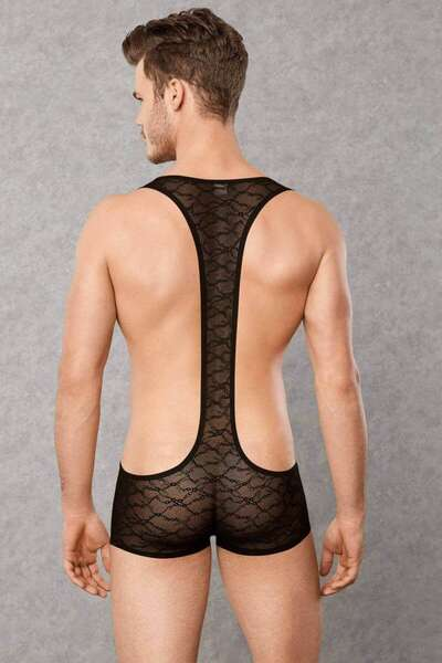 Doreanse - Erkek Dantel Body Suit (1)