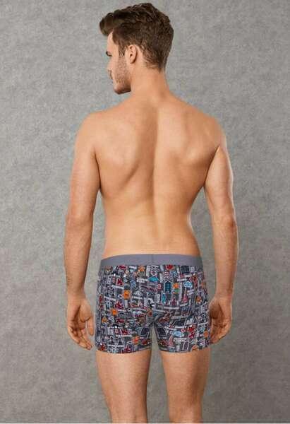 Doreanse - Gezgin Desen Erkek Uzun Boxer Külot (1)