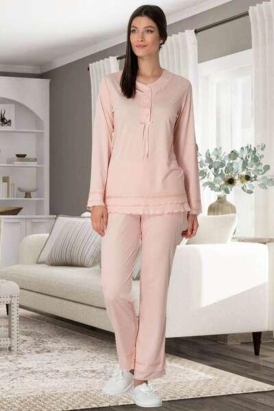 Mecit - Hamile Lohusa Pijama Takım + Saç Bandı Hediyeli (1)