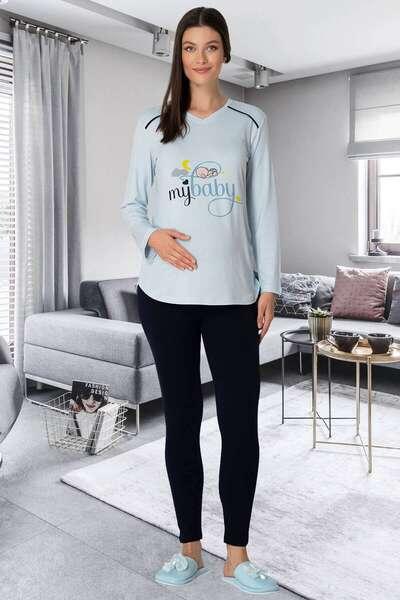 Mecit Pijama - Hamile Spor Tişört ve Tayt Takım (1)