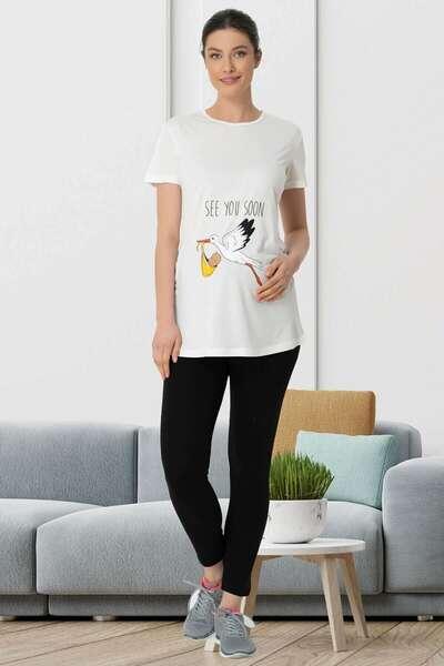 Mecit Pijama - Hamile Spor Tişört ve Tayt Takımı (1)