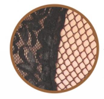 by İGP - Siyah Kaydırmaz Silikonlu Dantelli File Jartiyer Çorabı (1)