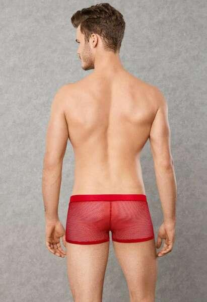 Doreanse - Kırmızı Transparan Erkek Boxer Külot (1)