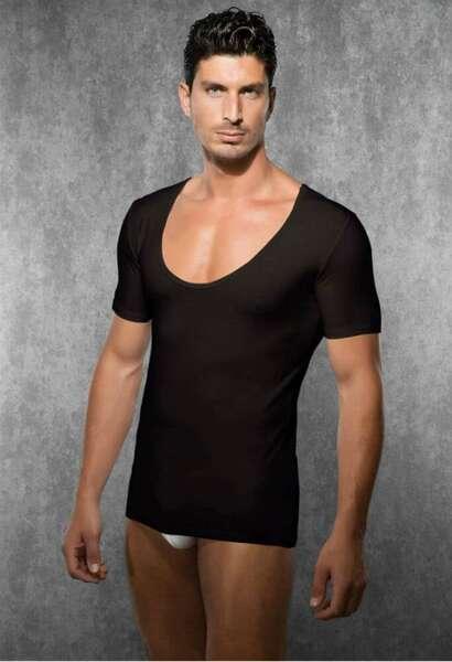 Doreanse - Kısa Kollu Geniş Yaka Erkek T-Shirt (1)