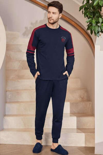 Lacivert Spor Erkek Pijama Takım