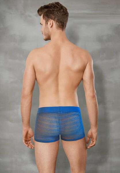 Doreanse - Mavi Transparan Erkek Boxer Külot (1)