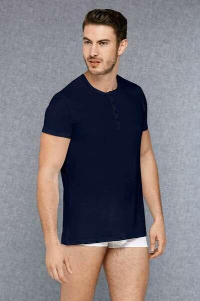 Doreanse - Önden Düğmeli Erkek Kısa Kollu T-Shirt (1)