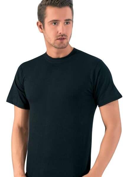 Lüx DRM - Penye Cotton Sıfır Yaka Kısa Kollu Erkek Atlet (1)