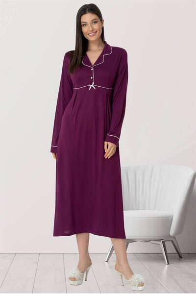 Mecit Pijama - Sabahlıklı Hamile Lohusa Gecelik Takım (1)
