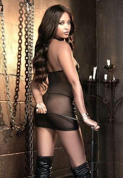 For Dreams - Siyah Lame Deri Seksi Elbise (1)