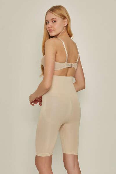 Emay - İz Yapmayan Dikişsiz Soft Kadın Boxer Pantolon Korse (1)