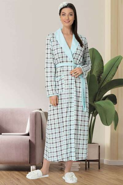 Mecit Pijama - Spor Ekoseli Sabahlık (1)