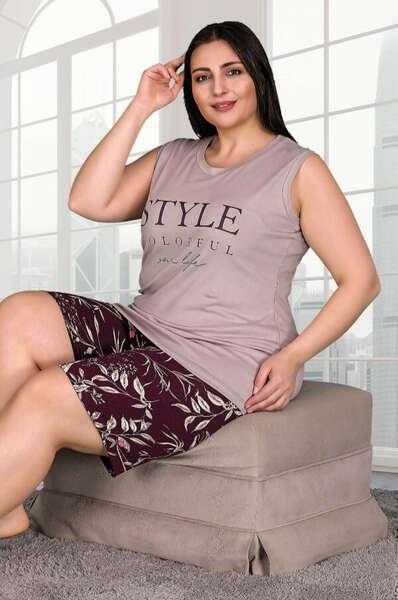Lady - Style Büyük Beden Şort Takım (1)